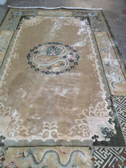 Chinese Rug Cleaning Before