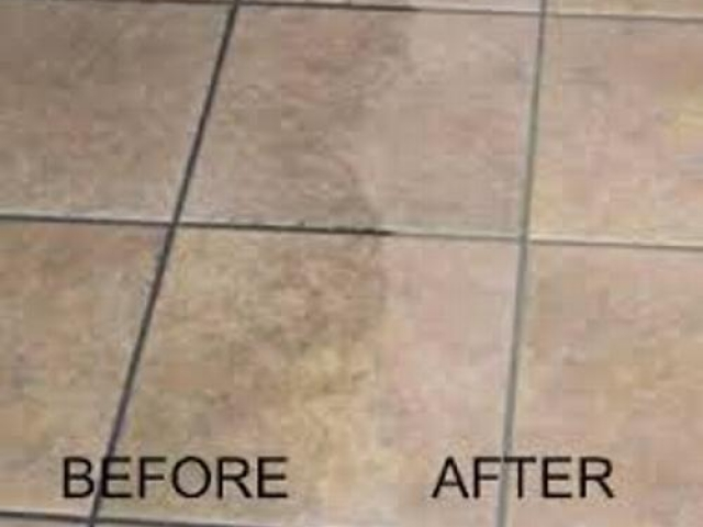 Ceramic Tile Cleaning Before and After