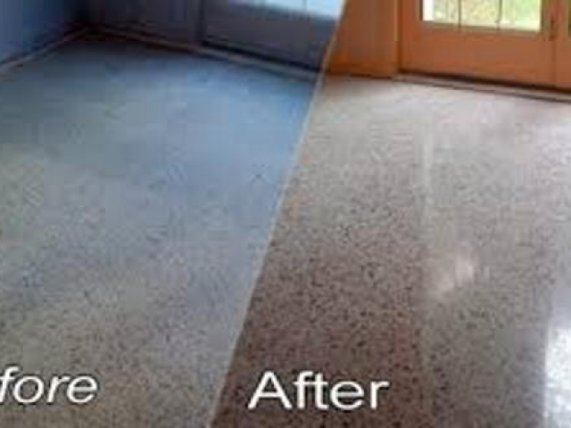 Terrazzo floor polish